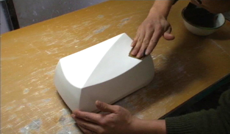 Ishida Glass Studio 制作工程 デザイン画を描いて、原型を作ります